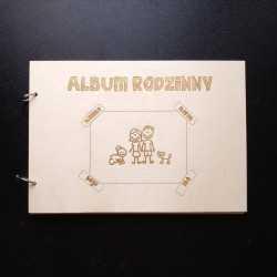 Drewniany album na zdjęcia - rodzina