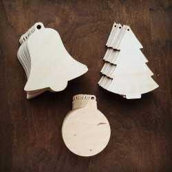 MIX drewnianych ozdób do...