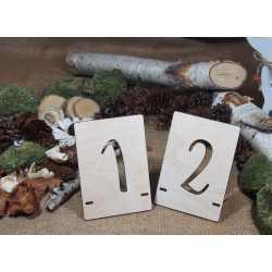 Drewniane numery stołów - NS3