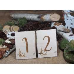 Drewniane numery stołów - NS5