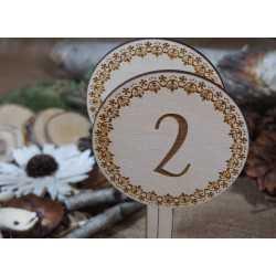 Drewniane numery stołów - NS6