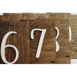 Drewniane numery stołów - NS2