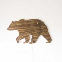 lampka drewniana niedźwiedź