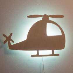 lampka helikopter na ścianie