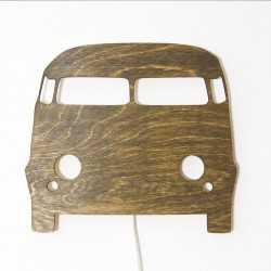 drewniana lampka auto